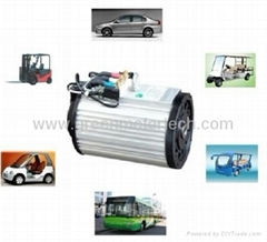 Traction AC motor in electric vehicle