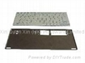 Metal stamped stainless steel keyboard cover