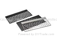 Stamping aluminum keyboard case with surface treatment