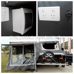 Off road camping trailer with 220V Australia socket and 12V cigarette lighter