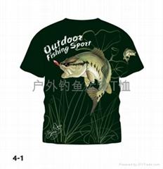中山钓鱼户外运动T恤