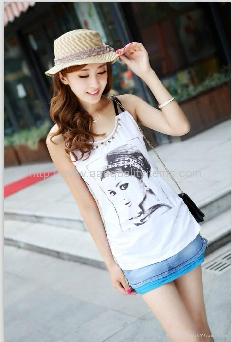 Wholesale Latest Chinese Style Fashion Girl Summer T Shirt