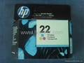 HP 22 (C9352A) Tri-Color Ink Cartridge in Retail Packaging