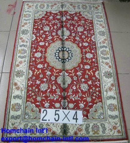 Handmade Silk Rugs Persian Carpets For Sale 1261
