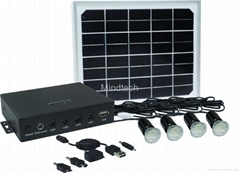 8W led solar home light with mobile charger tips