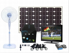 60W solar light generator solar UPS system solar home light for DC LCD TV fan