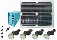 10w solar home lighting with 4pcs led lamps and phone charger tips