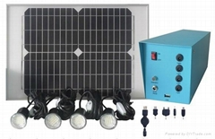 MRD307 20W solar home lighting with 4pcs 3W led lamps