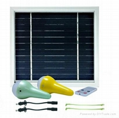 2pcs per set New design portable solar lighting system with remote controller
