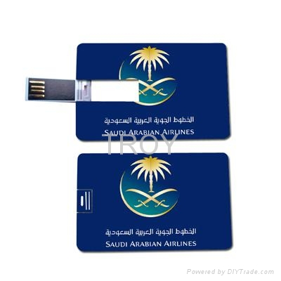 Credit Card USB Drive with Both Sides 3-D/True Color Imprint 1