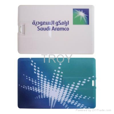 Credit Card USB Drive with Both Sides 3-D/True Color Imprint 2