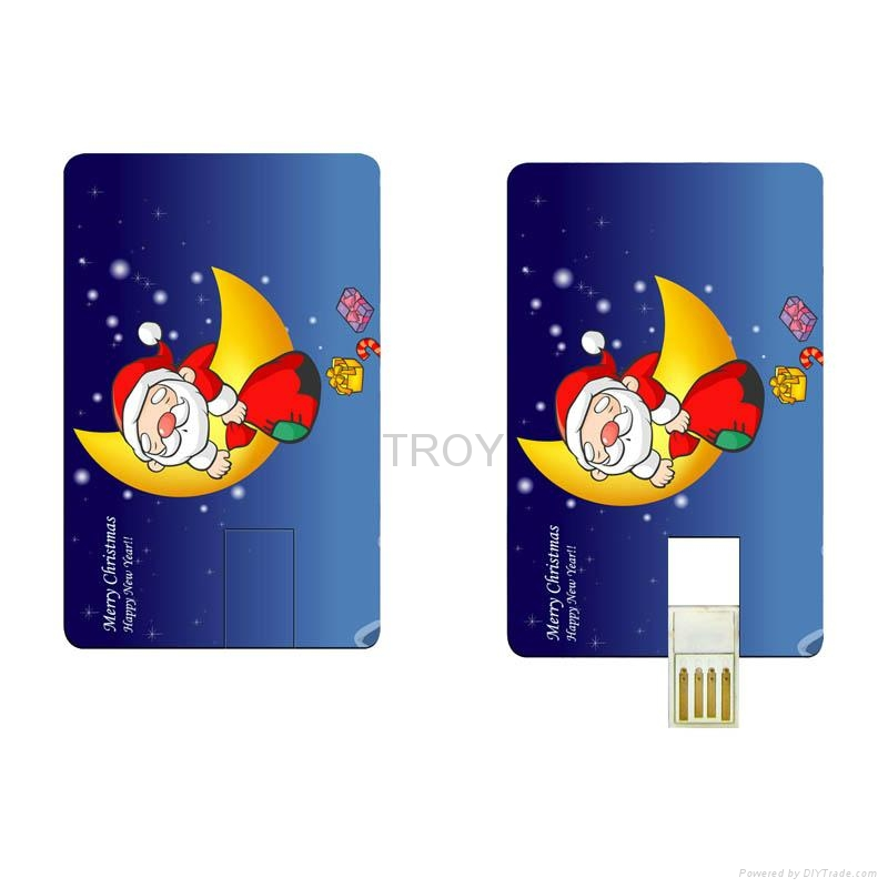 Credit Card USB Drive with Both Sides 3-D/True Color Imprint 3