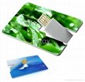 Credit Card USB Drive with Both Sides 3-D/True Color Imprint 4