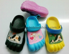 eva five finger kid clogs shoes