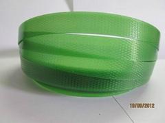 綠色透明壓花塑鋼打包帶