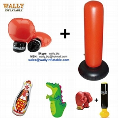 Inflatable boxing bag punching glove