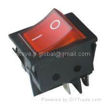 Illuminated DPDT High-Current Rocker Switch 1