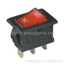 Miniature Illuminated Rocker Switch