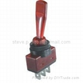 Red Illuminated Automotive Toggle Switch