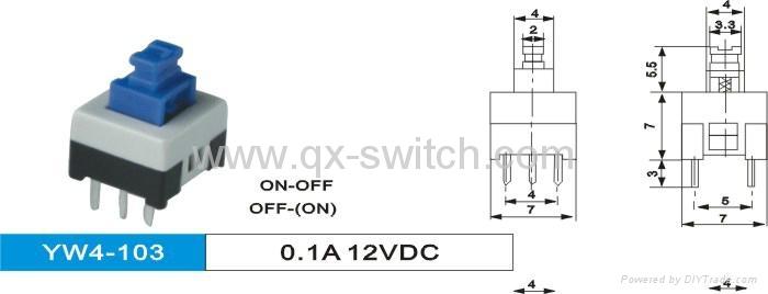 Sub-Miniature Latching Push Button Switch 3