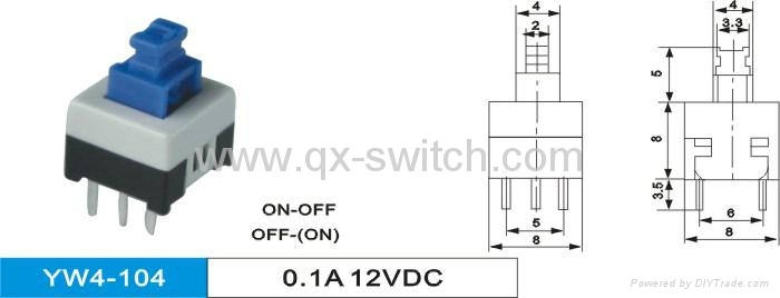 Sub-Miniature Latching Push Button Switch 4