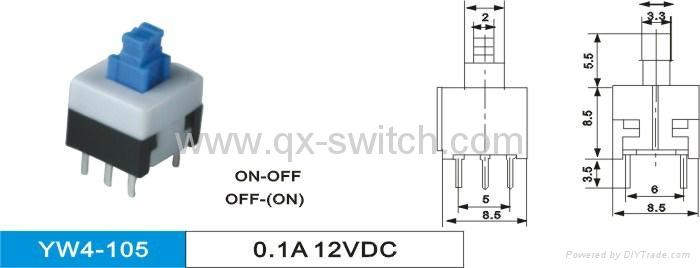 Sub-Miniature Latching Push Button Switch 5