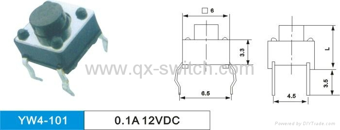6*6 6*3 12*12 Tactile Switches 3