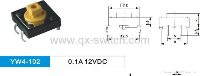 6*6 6*3 12*12 Tactile Switches 4