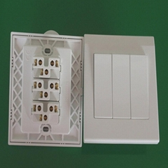 3gang power light switch pc wall switch