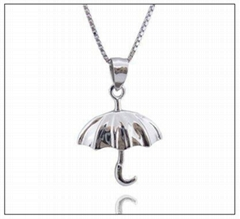 925 Sterling Silver Umbrella Pendant Charm ( Customized Order Accept)