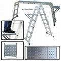 高档铝合金多功能折叠关节梯4X