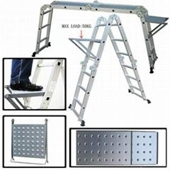 高档铝合金多功能折叠关节梯4X3