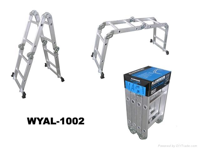 高档铝合金多功能折叠关节梯4X2 1