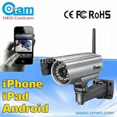 wireless outdoor weatherproof  ip camera night vision 20m