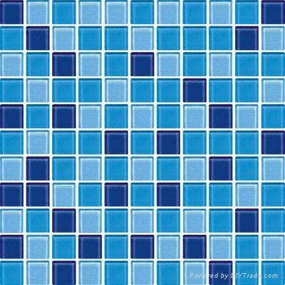 Swimming pool mosaic blue zyc021 zyc china manufacturer mosaic tile brick tile for Swimming pool tile manufacturers
