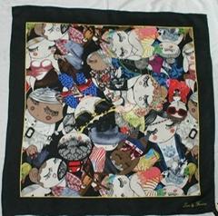 design silk scarf