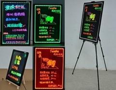Guarantee 100% Ultrathin Double side hardened Acrylic 50x70x1.2cm LED writing bo