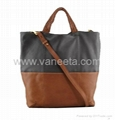 Calfskin handbag, Real leather shopping bag