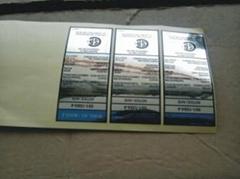 佛山CSA认证电壁炉耐高温流水号贴纸