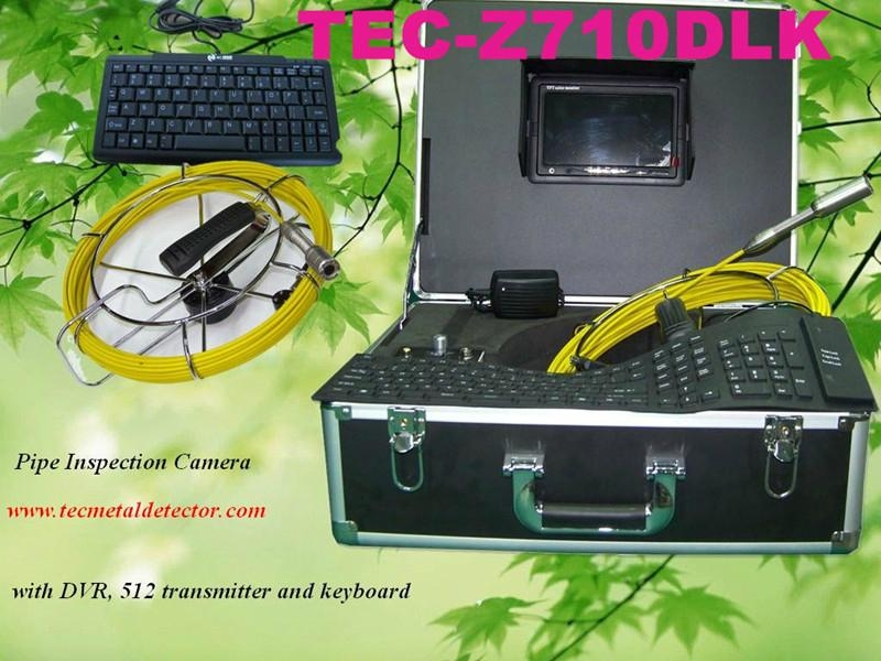 20/40/50M Underwater Sewer Pipe Inspection Camera with DVR&Keyboard TEC-Z710DLK 1