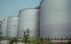 grain silo for sawdust