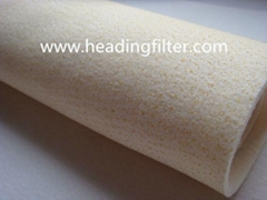 Homopolymer Acrylic nonwoven needle felt filter bag
