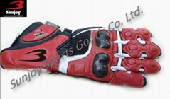 Red Motorcycle Racing gloves Supplier