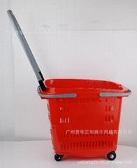 拉杆式購物籃