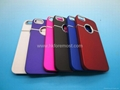 Wholesale - Luxury Hard Case Back Cover with Metal Ring Round Hole for iphone5