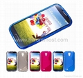 S line TPU Case Cover for samsung galaxy s4 i9500 + LCD PROTECTOR FILM