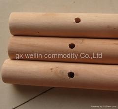 wooden broom handle
