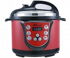 Smart Electric Pressure Cooker - 5 litre Capacity with red color
