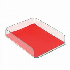 2012 Glasstique Desk Tray A4 Green NEW
