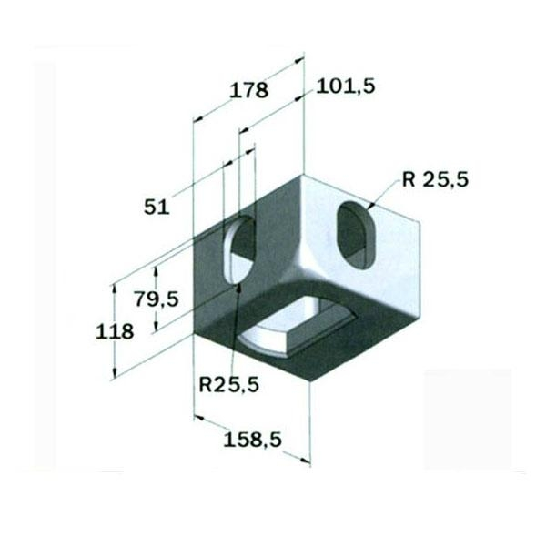 Iso Top Container Corner Fitting 178 162 118 Czpj